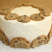Chocolate Cookie Dough Cake